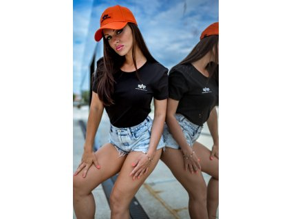 Alpha Industries Basic Small Logo T Wmn black dámske tričko
