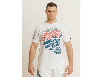 Amstaff tričko BERBAS white
