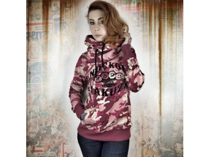 Yakuza MILITARY LADY dámska mikina GHOB 10143 camouflage pink