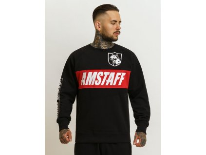 Amstaff VURAS Sweater Black mikina pánska