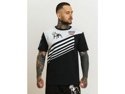Amstaff tričko ENCHA black white