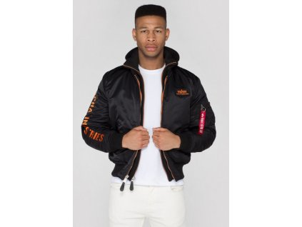 Alpha Industries zimná bunda MA 1 D Tec SE black orange