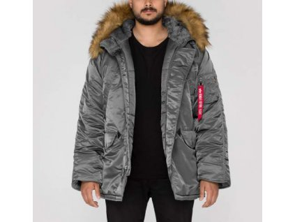 Alpha Industries N3B zimná bunda gunmetal