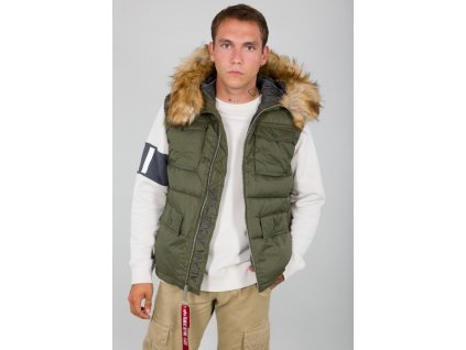 Alpha Industries vesta Hooded Field Vest Dark Green
