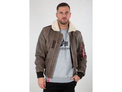 Alpha Industries Injector III Leather zimná kožená bunda vintage