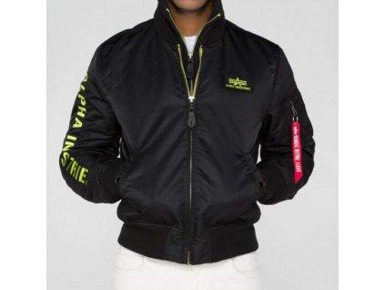 Alpha Industries zimná bunda MA 1 D Tec SE black lime