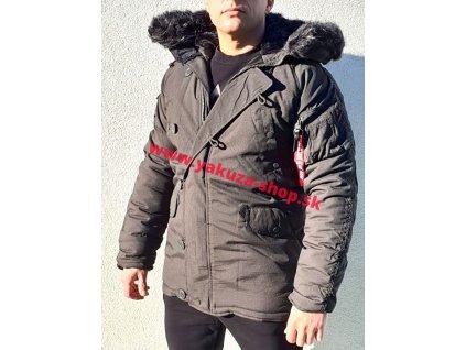 Alpha Industries zimná bunda Explorer black olive