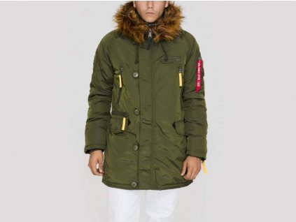 Alpha Industries PPS N3B pánska zimná bunda dark green