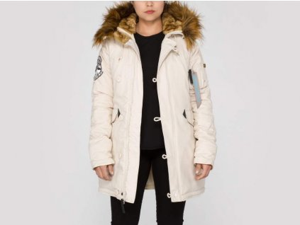 Alpha Industries Polar Jacket Wmn dámska zimná bunda off white