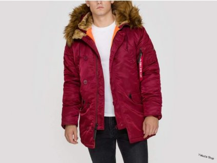 Alpha Industries zimná bunda N3B VF 59 burgundy