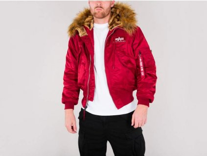 Alpha Industries 45P Hooded Custom zimná bunda commander red