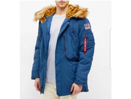 Alpha Industries Polar Jacket pánska zimná bunda new navy