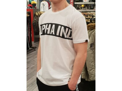 Alpha Industries Printdd Stripe T white tričko pánske
