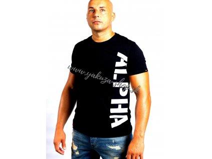 Alpha Industries SIDE PRINT T tričko pánske black  b