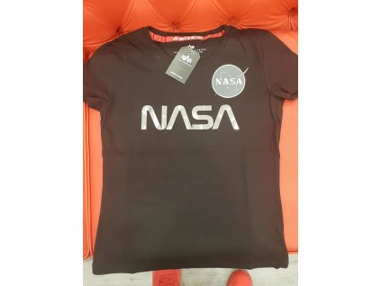 Alpha Industries NASA PM T Wmn Black Chrome dámske tričko