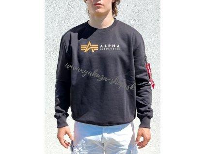 Alpha Industries LABEL Sweater black d