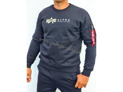 Alpha Industries LABEL Sweater black b