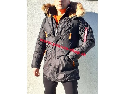 Alpha Industries zimná bunda PPS N3B black orange