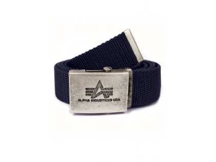 Alpha Industries Heavy Duty Belt 4 cm Rep Blue opasok