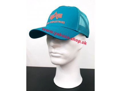 Alpha Industries Basic Trucker Cap šiltovka blue lagoon