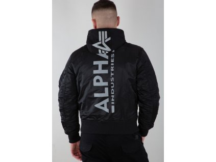 Alpha Industries zimná bunda MA 1 ZH BACK PRINT black reflective b