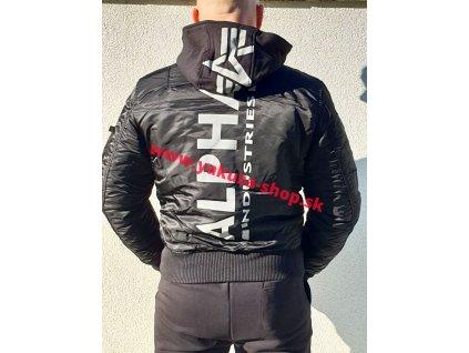 Alpha Industries zimná bunda MA 1 ZH BACK PRINT black reflective