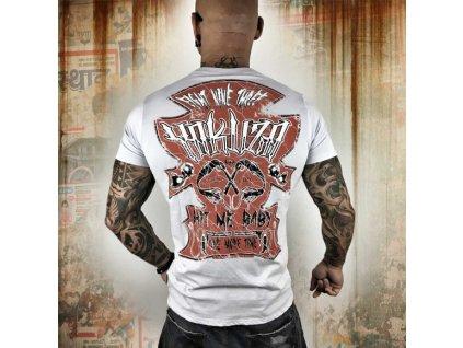 Yakuza tričko pánske Hit Me TSB 10001 gray dawn