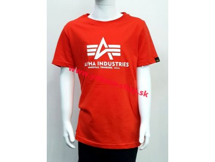 Alpha Industries Basic T Kids detské tričko atomic red