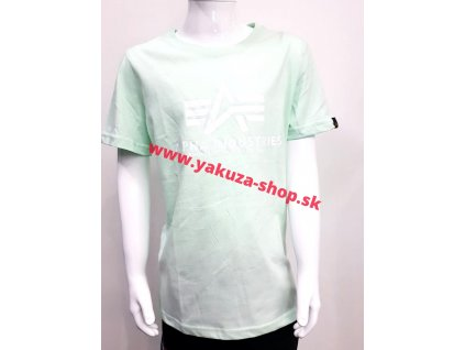 Alpha Industries Basic T Kids detské tričko atomic mint