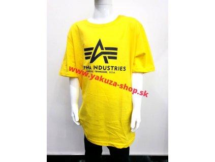 Alpha Industries Basic T Kids detské tričko prime yellow