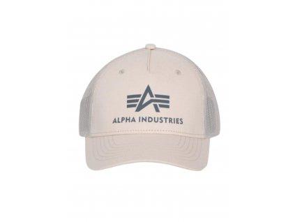 Alpha Industries Basic Trucker Cap šiltovka j.stream white