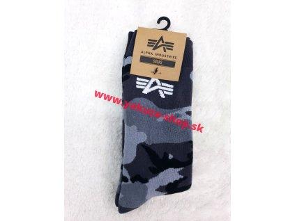 Alpha Industries Socks pánske ponožky 188919 greycamo