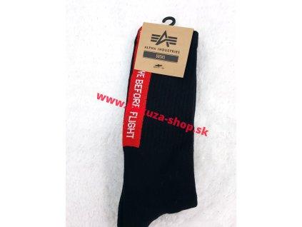 Alpha Industries Socks pánske ponožky 188920 black RBF