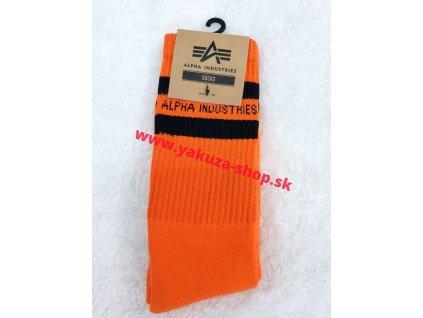 Alpha Industries Socks pánske ponožky 188918 Stripe Orange