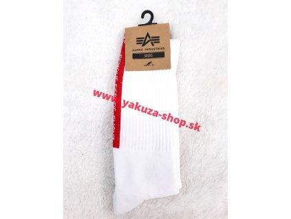 Alpha Industries Socks pánske ponožky 188920 white RBF