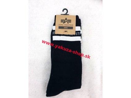 Alpha Industries Socks pánske ponožky 188918 Stripe Black