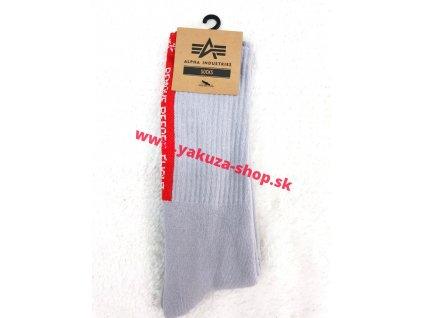 Alpha Industries Socks pánske ponožky 188920 grey RBF