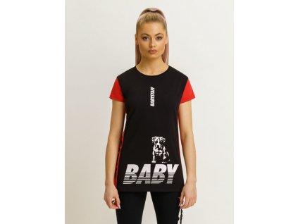 Babystaff URAYA black red tričko