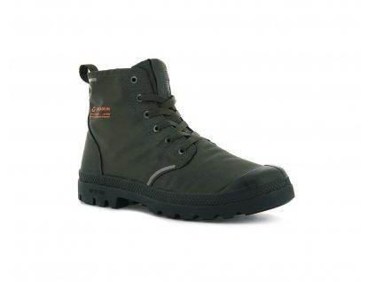 Palladium módne topánky PAMPA LITE+ RECYCLE WP+ olive night