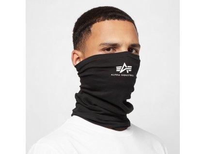 Alpha Industries Basic SL Tube Mask nákrčník black white