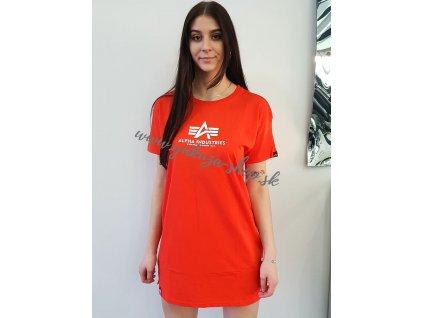 Alpha Industries T Long Wmn dámske tričko atomic red