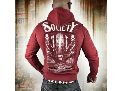 Yakuza VIOLENT SOCIETY mikina pánska HOB 10025 racing red