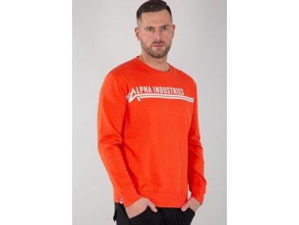 Alpha Industries AI Sweater mikina pánska atomic red d