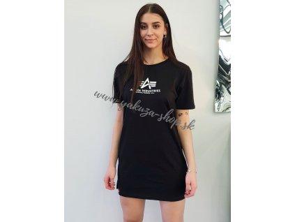 Alpha Industries T Long Wmn dámske tričko black