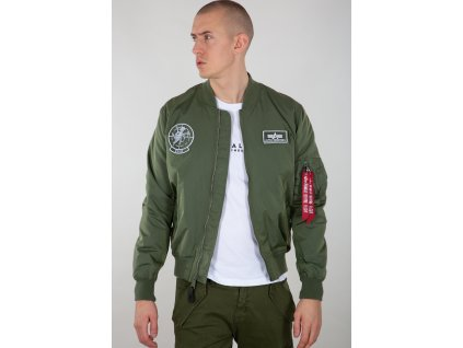 Alpha Industries MA 1 TT GLOW IN THE DARK bunda pánska sage green f