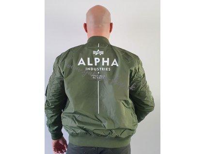 Alpha Industries MA 1 TT GLOW IN THE DARK bunda pánska sage green
