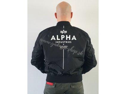 Alpha Industries MA 1 TT GLOW IN THE DARK bunda pánska black c