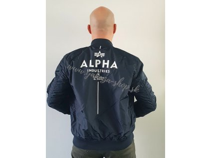 Alpha Industries MA 1 TT GLOW IN THE DARK bunda pánska rep blue d