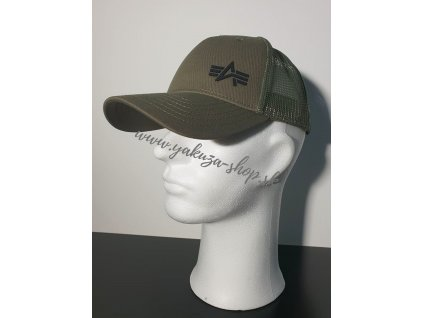 Alpha Industries Trucker Cap Small logo šiltovka dark green