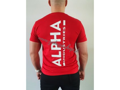 Alpha Industries BACKPRINT T tričko pánske speed red